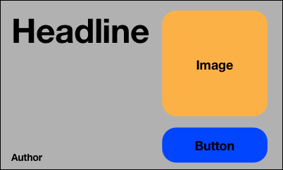 Headline view with text, image and button